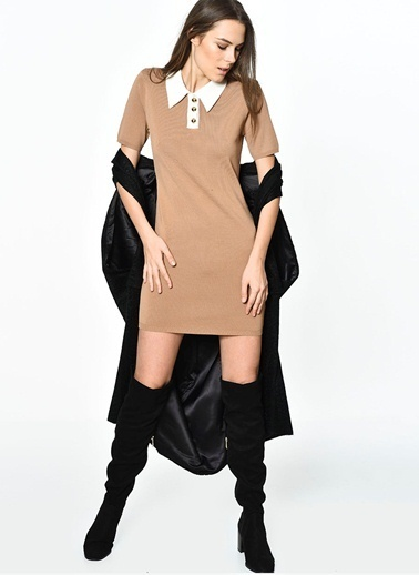 English Factory English Factory Gömlek Yaka Elbise Renkli